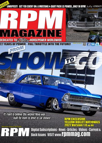 Cover of RPM Magazine July 2021